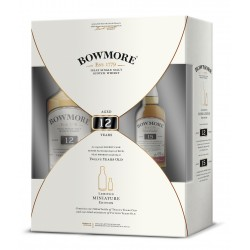 Bowmore 12 Years Old Islay Single Malt Scotch Whisky 0,7 l in Geschenkbox mit Bowmore 15 Years Old 0,05 l