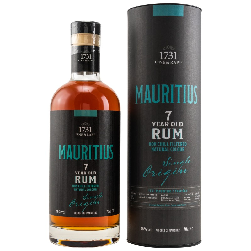 1731 Rum - Mauritius 7 Years Single Origin Rum 0,7 Liter hier bestellen.