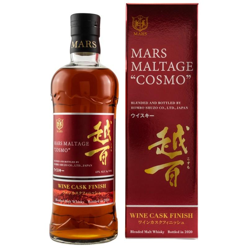 Mars Maltage COSMO Wine Cask Finish 43% Vol. 0,7 Liter in Geschenkbox hier bestellen.