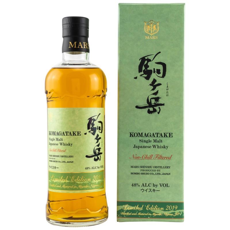 Mars KOMAGATAKE Single Malt Japanese Whisky Limited Edition 2019 48% Vol. 0,7 Liter in Geschenkbox hier bestellen.