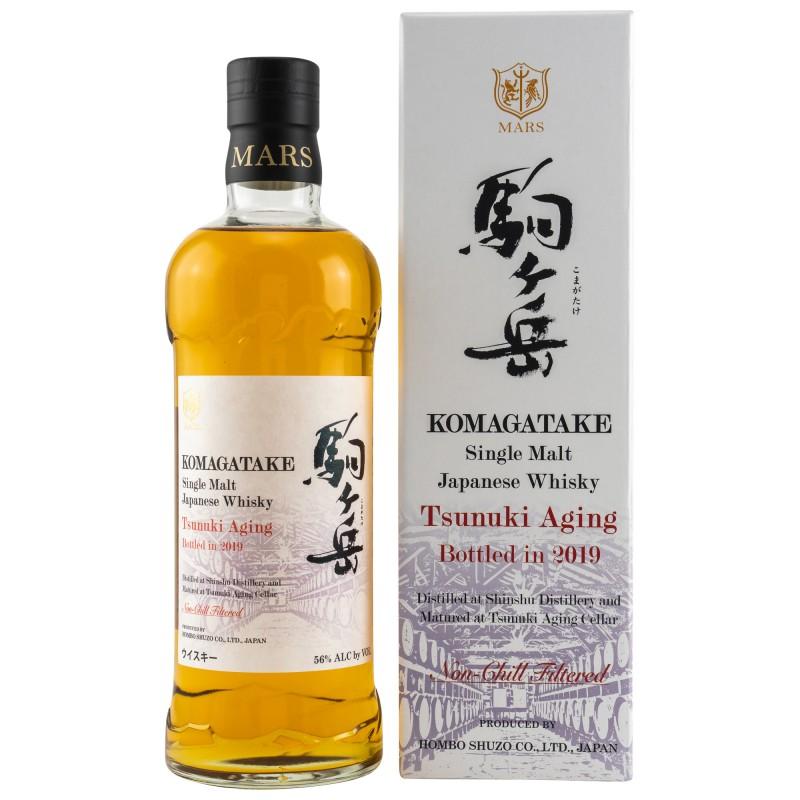 Mars KOMAGATAKE Single Malt Japanese Whisky TSUNUKI AGING 2019 56% Vol. 0,7 Liter in Geschenkbox hier bestellen.