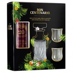 Ron Centenario Fundacion Solera 20 0,7 Liter im GP mit 2 Gläsern und Glaskaraffe bei Premium-Rum.de online bestellen.