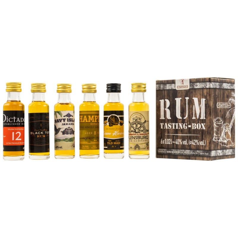 Rum Tasting Box 6 x 0,02 Liter bei Premium-Rum.de online bestellen.