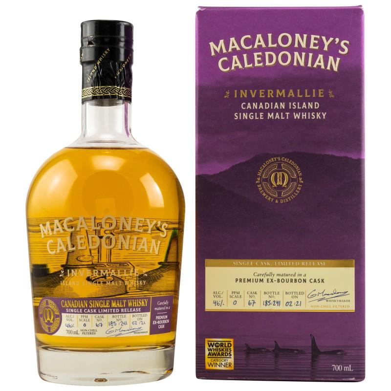 Macaloney Invermallie Ex-Bourbon Single Cask 0,7 Liter Limited Release bei Premium-Rum.de online bestellen.
