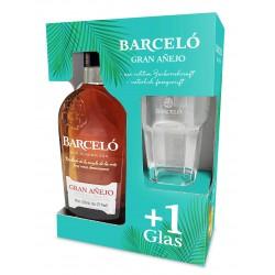 Barcelo Ron Gran Anejo 0,7 Liter im Geschenkset mit Glas Premium-Rum.de