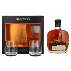 Barcelo Ron Imperial Rum  0,7 Liter in Geschenkbox mit 2 Gläsern