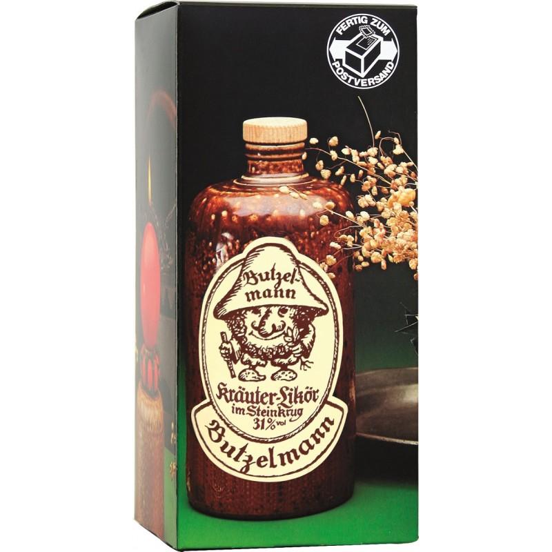 Butzelmann Kräuterlikör im Steinkrug 31% Vol. 0,7 Liter im Geschenkkarton bei Premium-Rum.de