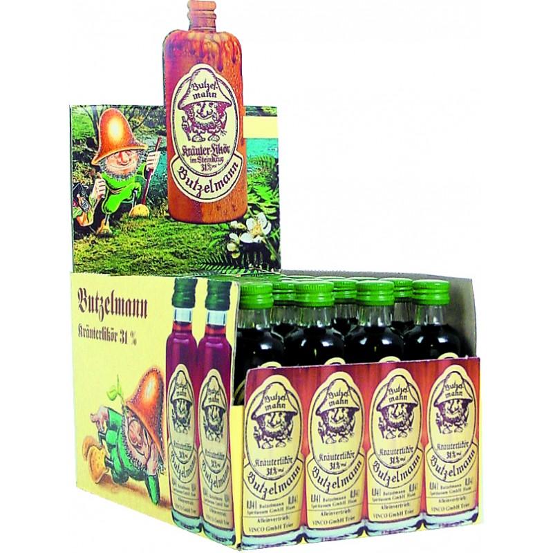 Butzelmann Kräuterlikör im Steinkrug 31% Vol. 24 x 0,04 Liter bei Premium-Rum.de bestellen.
