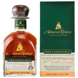 Admiral Rodney HMS FORMIDABLE Rare Saint Lucia Rum 40% Vol. 0,7 Liter in Geschenkbox
