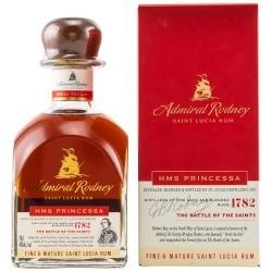 Admiral Rodney HMS PRINCESSA Fine & Mature Saint Lucia Rum 40% Vol. 0,7 Liter in Geschenkbox