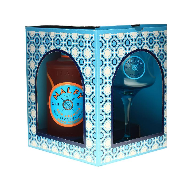 MALFY Gin Con Arancia 41% Vol. 0,7 Liter im Geschenkset mit Copa Glas bei Premium-Rum.de