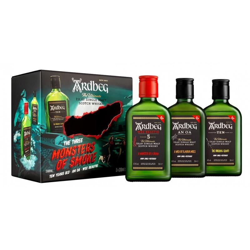 Ardbeg Monsters of Smoke Set 3 x 0,2 Liter bei Premium-Rum.de bestellen.